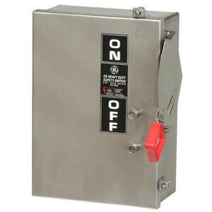 GE TH3223SS Disconnect Switch, 100A, 240VAC, 250VDC, 2P, Fusible, NEMA 4X