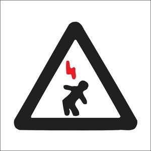 25176 ELECTRICAL HAZARD SIGN
