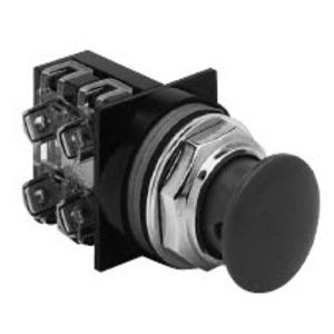 "GE CR104PBM00R5C Push Button, Red Mushroom, 1-3/8"", Operator Only, 10A, 600V"