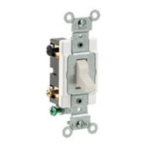 Leviton CS415-2T 4-Way Switch, 15 Amp, 120/277V, Light Almond, Side Wired, Commercial