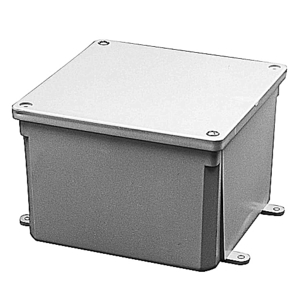 "Carlon E989RRR-UPC Junction Box, Screw Cover, 6"" x 6"" x 6"", PVC"