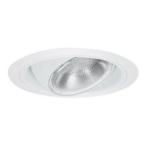 "Elite Lighting B609W-WH Regressed Eyeball Trim, with Baffle, 6"", White Baffle/White Trim"