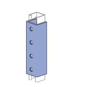 "Unistrut P1377-HG ""U"" Shape Fitting (Clevis), 4 Holes, Electro Galvanized."