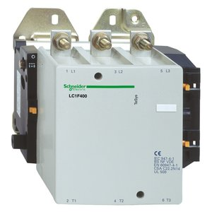 Square D LC1F400G7 Contactor, Non-Reversing, TeSys F, 400A, 3P, 600VAC, 120VAC Coil