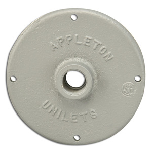 "Appleton JBK-50 Conduit Outlet Box Cover, 1/2"" Hub, Malleable Iron"