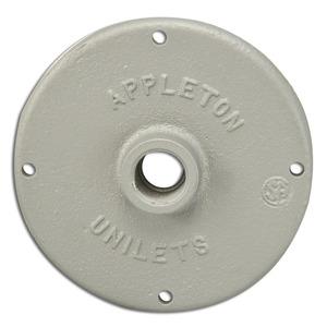 "Appleton JBK-50 Conduit Outlet Box Cover, 1/2"" Hub, Malleable Iron"