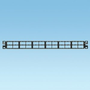 Panduit CPP48HDVNSWBL Patch Panel, 48 Port, Modular HD, Black