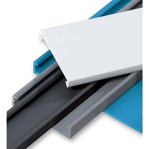 "Thomas & Betts TYD1CPB6 Plastic Wiring Duct Cover, 1"", Black"
