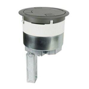 """Wiremold 8ATC2BK Poke-Thru, Recessed, Black, Diameter: 8"""", Depth: 16-1/4"""