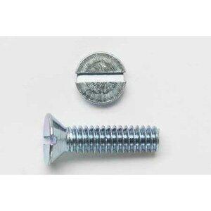 "Bizline 832X112FHSMSZJ Machine Screw, Flat Head, Slotted, 8-32 x 1-1/2"", Zinc Plated"