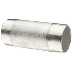 "Multiple ALC400X800 Rigid Nipple, Size: 4"" x 8"", Threaded, Material: Aluminum"