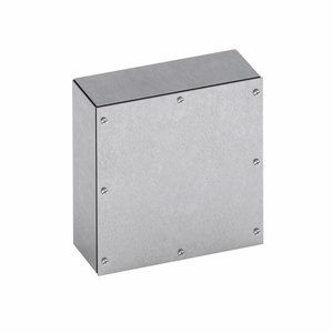 "Eaton B-Line 10104-SCG Junction Box, Screw Cover, NEMA 3R, 10"" x 10"" x 4"""