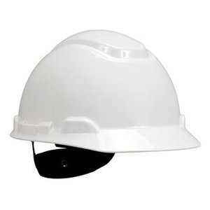 3M H-701R-EA Hard Hat, White, 4-Point Ratchet Suspension