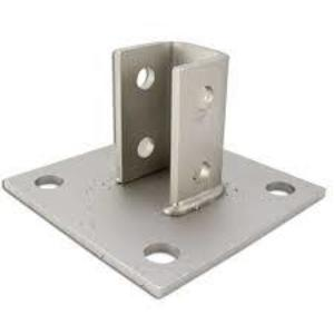 Power-Strut PS-3033-SS Post base, 4-Hole Bottom Plate, Stainless Steel