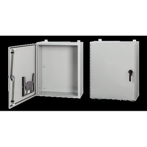 Hoffman A60H36JLP3PT Enclosure, Wall-Mount, NEMA 4/12, Continuous Hinge With 3-Point Latch