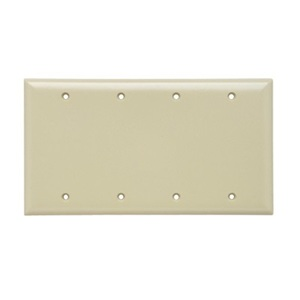 Pass & Seymour SP43-I P&S SP43-I SMOOTH WALL PLATE 4G BLN