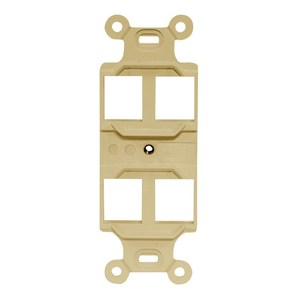 Hubbell-Premise Q106E STYLELINE DUPLEX OUTLET FRAME, 4 P,EI