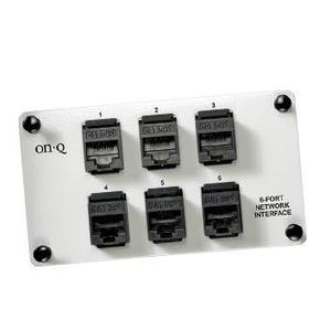 ON-Q AC1000 6 Port Netwrk Interface W/mod Jacks