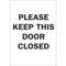 22237 DOOR SIGN
