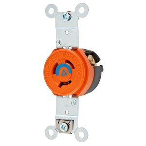 Hubbell-Wiring Kellems IG4560 LKG SGL RCPT, IG, 15A