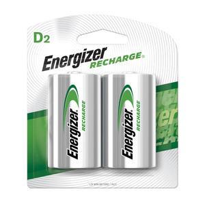 Energizer NH50BP-2 (2) 1.2V D Rechargeable Batteries