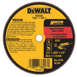 DEWALT DW8706 3 X .035 X 3/8 A36T