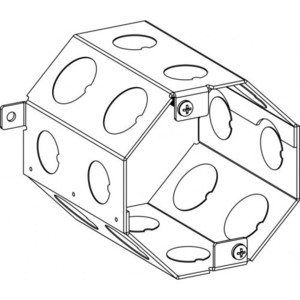 "Orbit Industries 4CB 4"" Octagonal Concrete Box, Depth: 4"", (8) 1/2"" & (8) 3/4"" Knockouts"