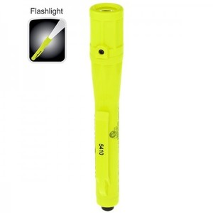 Bayco Products XPP-5410G Intrinsically Safe Permissible Penlight Flashlight, 30 Lumen, Green