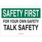 25314 SAFETY SLOGANS SIGN