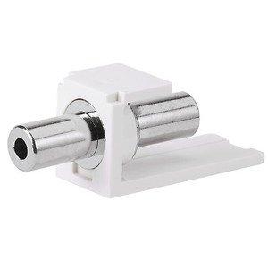 Panduit CM35MSCIGY Stereo Coupler, 3.5mm, Intl Gray