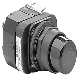 Allen-Bradley 800H-QRBH2B Push Button, Extended Head, w/o Guard, 12-130V AC/DC, Blue, 30mm