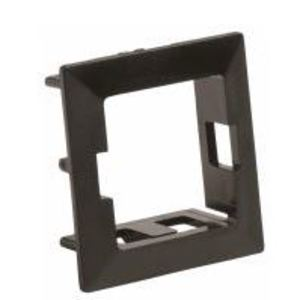 """Commscope 106664154 Mounting Collar, 1-Port, Snap-In, 1"""" H x 1.03"""" W x 0.46"""" D, Black"""