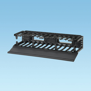 "Panduit NMF2 Horizontal, Cable Manager, Front Only, 3.5""H x 19""W x 6.2""D, 2RU"