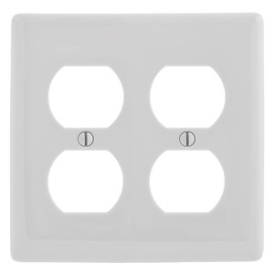 Hubbell-Wiring Kellems NP82OW WALLPLATE, 2-G, 2) DUP, OW