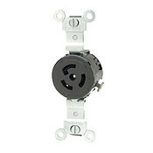 Leviton 4710 Locking Receptacle, 15A, 125V, L5-15R, 2P3W