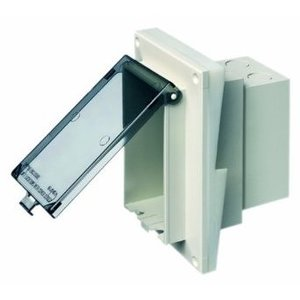 Arlington DBVR141C Weatherproof-In-Use Box, 1-Gang, Recessed, Vertical, Non-Metallic