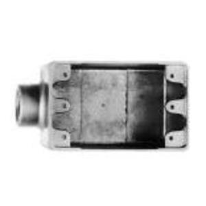 """Cooper Crouse-Hinds FS2SA FS Device Box, 1-Gang, Dead-End, Type FS, 3/4"""", Aluminum"""