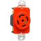Pass & Seymour IGL2130-R TRNLK SGL REC 5W 30A 3P 120/208V IG