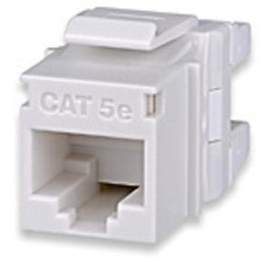Signamax KJ458MT-C5E-WH Cat 5e Keystone Jack, T568A/B Wiring, White