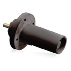 Leviton 17R21-E Male, Panel Receptacle, 90 Deg., 250-750 MCM,  Threaded Stud, Cam-Type, Black