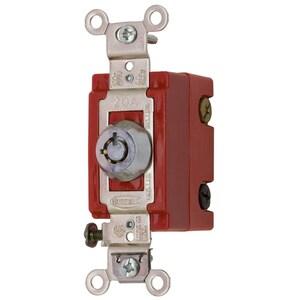 Hubbell-Wiring Kellems HBL1224RKL 4 WAY TOG, IND GRD, 20A 120/277V, LOCK