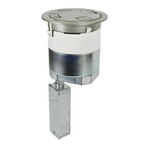 "Wiremold 6AT2PBS Poke-Thru, Recessed, Brass, Diameter: 6"", Depth: 16-1/4"
