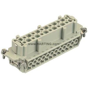 Harting 09330242701 Female Insert, Size 24B, Screw Terminal, 24 Contacts, 16A, 500V