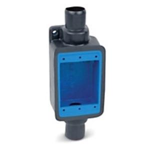 "Ocal FDC3-G FD Device Box, 1-Gang, Feed-Thru, 1"",  Iron/PVC Coated, Gray"