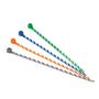 PLT1M-L3-10 CBLE TIE ORANGE-WHT 50/PKG