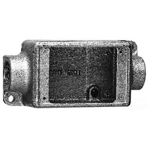 """Cooper Crouse-Hinds FDC2SA FD Device Box, 1-Gang, Feed-Thru, Type FDC, 3/4"""", Aluminum"""
