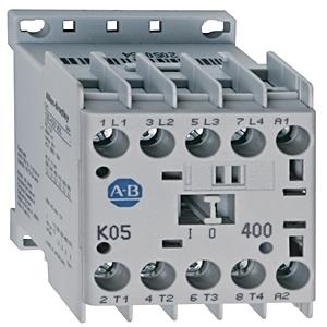 Allen-Bradley 100-K05D10M Contactor, Miniature, 5A, 3P, 120VAC Coil, 1NO Auxiliary Contact