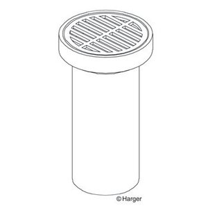 Harger Lightning & Grounding 368T 18X24 TILE WELL W/GRATE COVER