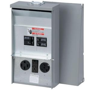 Eaton CHU1N7N4NS Power Outlet Panel, 50A, 125/250VAC, 3P, 4W, Surface Mount, NEMA 3R