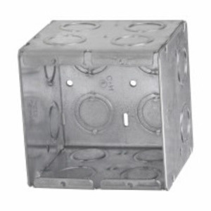 "Appleton M2-350 Masonry Box, 2-Gang, 3-1/2"" Deep, 1/2 "" & 3/4"" KOs, Metallic"